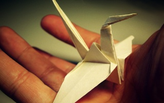 Origami Crane wallpapers and stock photos