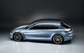 2012 Porsche Panamera Sport Turismo Concept Studio Top Angle wallpapers and stock photos