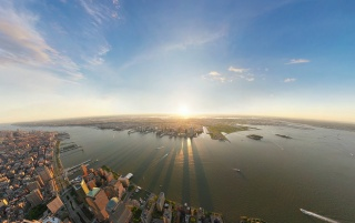 New York City Sunset wallpapers and stock photos