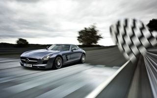Mercedes-Benz SLS Racing wallpapers and stock photos