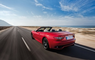 2013 Maserati GranCabrio Sport Motion Rear Angle wallpapers and stock photos