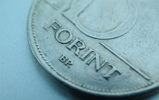 Hungarian Forint Coing Macro wallpapers and stock photos