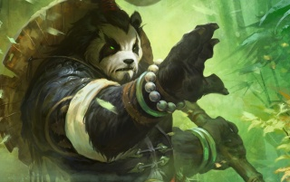 Pandaren Monk Art Work wallpapers and stock photos