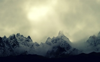 Random: Cloudy Mountains Landscape