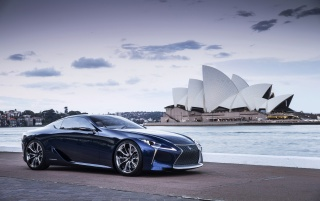 Random: 2012 Lexus LF LC Blue Concept Static Side Angle