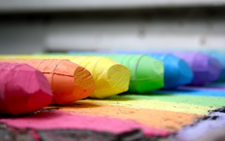 Colored Crayons Macro wallpapers and stock photos