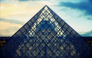 Paris Louvre Pyramid wallpapers and stock photos