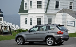 BMW X5 side wallpapers and stock photos