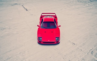 Red Ferrari F40 Top Angle wallpapers and stock photos