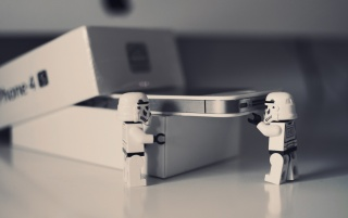 Lego Star Wars iPhone 4 Unboxing wallpapers and stock photos