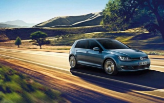 Volkswagen Golf VII Speeding wallpapers and stock photos