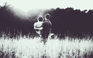 Couple In Love Monochrome wallpapers and stock photos