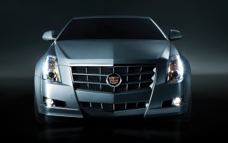 2013 Cadillac CTS Coupe Studio vorne wallpapers and stock photos