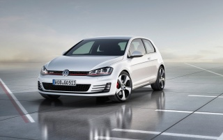 2012 Volkswagen Golf 7 GTI Concept Static Front wallpapers and stock photos