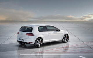 2012 Volkswagen Golf 7 GTI Concept Static Rear Side wallpapers and stock photos