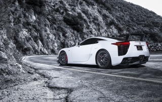Next: 2013 Lexus LFA Nurburgring Edition White Static Rear Angle