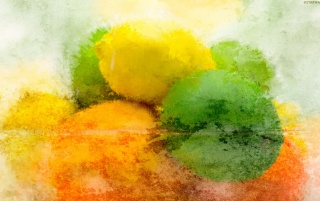 Lemons and Limes Painting wallpapers and stock photos