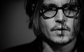 Johnny Depp Monochrome Close-up wallpapers and stock photos