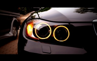 BMW M3 Angel Eyes wallpapers and stock photos
