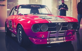 Classic Alfa Romeo Race Car wallpapers and stock photos