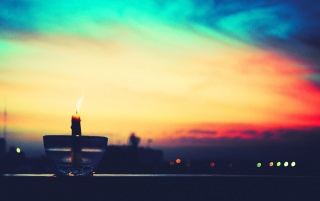 Candle at Sunset wallpapers and stock photos