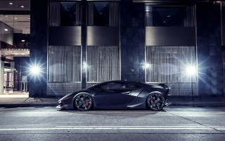Black Lamborghini Sesto Elemento wallpapers and stock photos