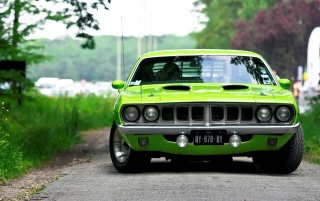 Next: Green Plymouth Barracuda Front