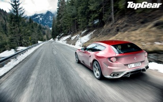 Top Gear Ferrari FF Speeding wallpapers and stock photos