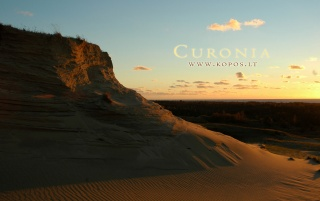 Curonia - Twilight in dunes wallpapers and stock photos