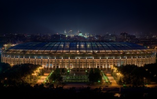 Moscow Stadium at Night wallpapers and stock photos