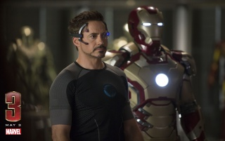 Tony Stark and Iron Man Suit wallpapers and stock photos