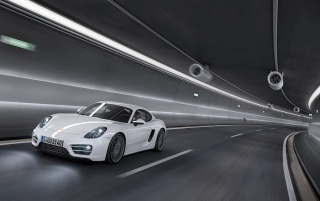2013 White Porsche Cayman Speed Front Angle wallpapers and stock photos