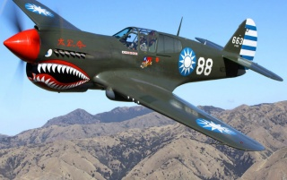 Curtiss P-40 Warhawk wallpapers and stock photos