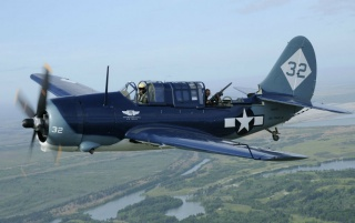 Curtiss SBD-2C Helldiver wallpapers and stock photos