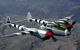 Lockheed P-38L Lightning wallpapers and stock photos