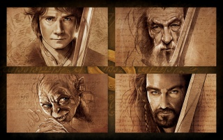 The Hobbit Characters Artwork wallpapers and stock photos