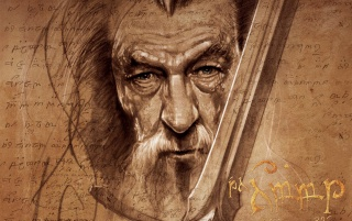 Random: The Hobbit Gandalf Artwork
