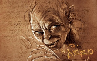 The Hobbit Gollum Arwork wallpapers and stock photos