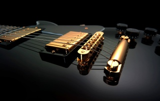 Black Guitar Close-up wallpapers and stock photos