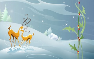 Christmas Reindeers wallpapers and stock photos