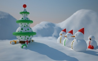 Snowman Christmas wallpapers and stock photos