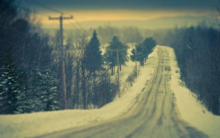 Snowy Road wallpapers and stock photos