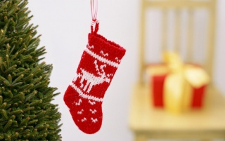 Red Christmas Stocking wallpapers and stock photos