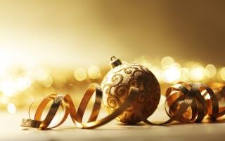 Golden Christmas Ornaments wallpapers and stock photos