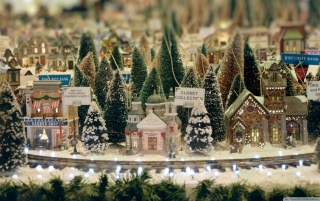 Minaiature Christmas Town Macro wallpapers and stock photos
