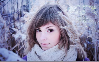 Random: Beautiful Brunette Winter Portrait