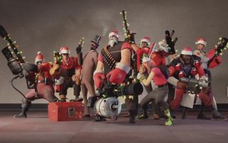 Team Fortress 2 Christmas wallpapers and stock photos