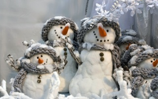 Winter Snowmen wallpapers and stock photos