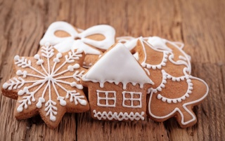 New Year Gingerbread Ornaments wallpapers and stock photos