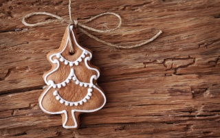 Gingerbread Christmas Tree Ornament wallpapers and stock photos